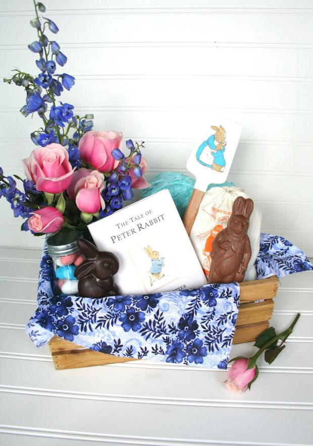 Make a grown-up Easter basket for your neighbor: Peter Rabbit baking kit in a box from The Brookhaven House